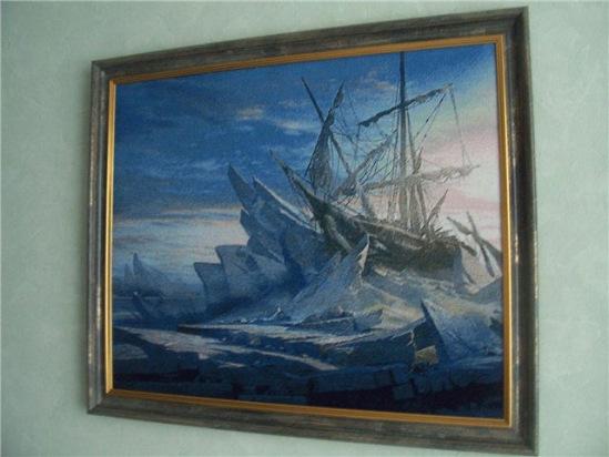 вышивка крестом корабли