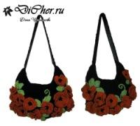 Незабываемая сумка для яркой девушки)) внутри два маленьких кармашка для...