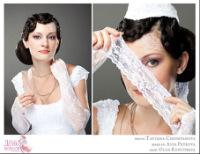 Прическа была создана для Дня Невест, невесты в стиле 40х годов.