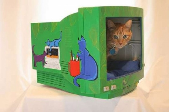Дома для кошек своими руками из коробки