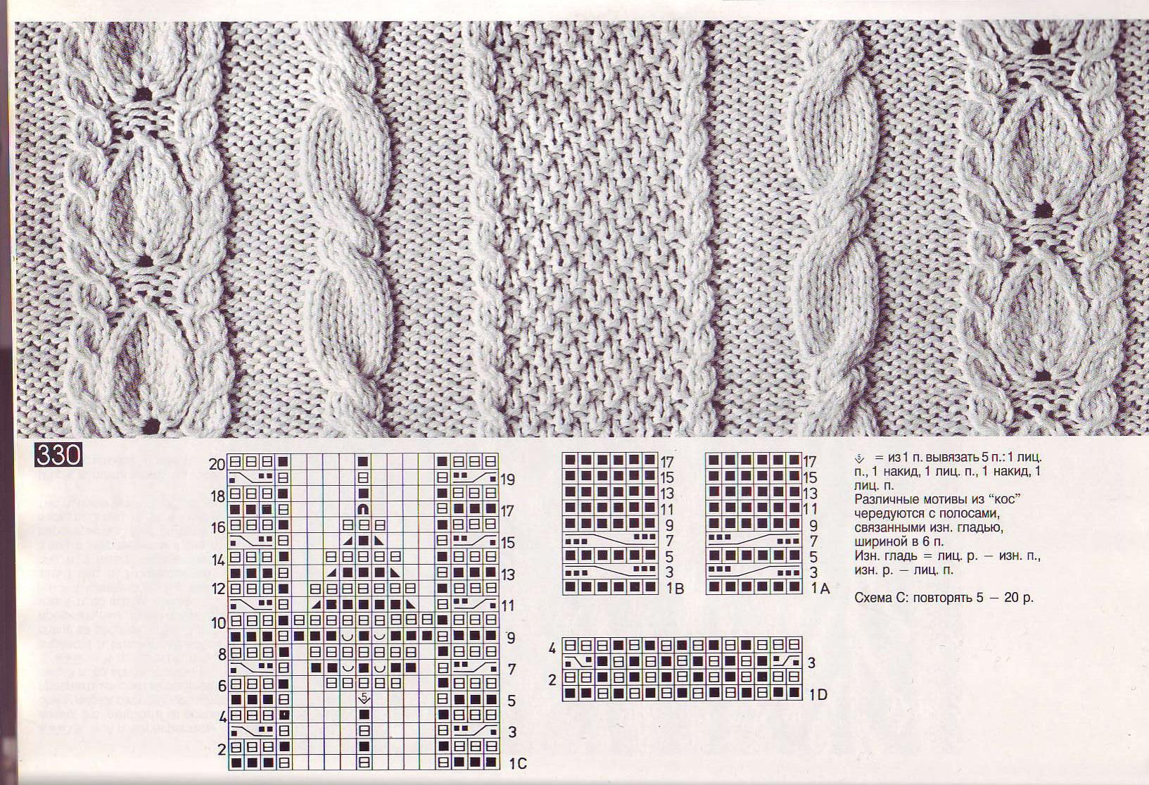 Узоры из кос для вязания спицами схемы 7 фотография