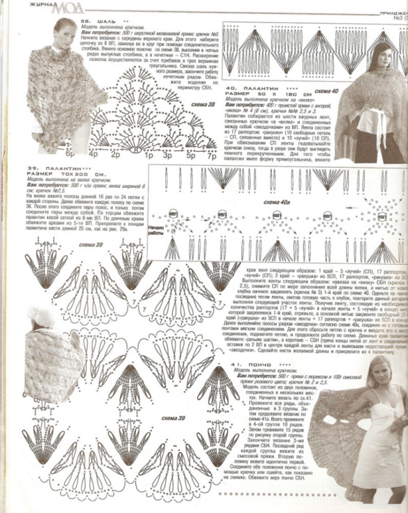 Вязание палантинов крючком и на вилке