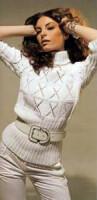 вязание спицами свитера женского с оленями. свитер вязание.