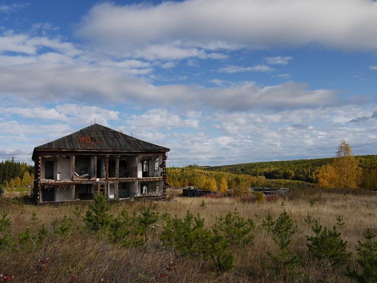 Остатки строений колонии-поселения Ушма