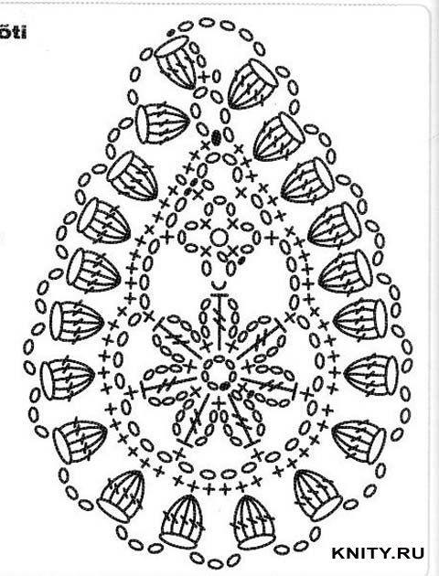 Описание: крючком со схемами - Узоры, орнаменты.