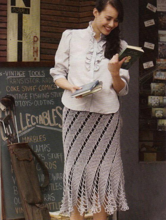 Метки: юбка годе крючком узор листики женская юбка крючком вязаная юбка.вязание крючком. Узнай подробности