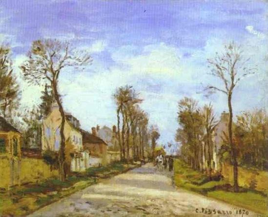 К. Писсарро. Дорога из Версаля в Лувесьенн.