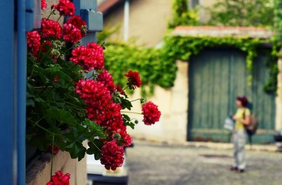 Франция, Марли-ле-Руа. Цветы и ставни.