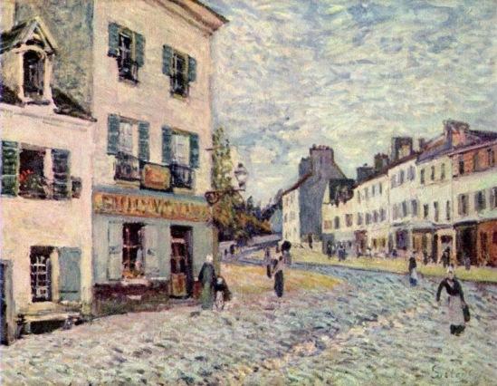 А. Сислей. Улица в Марли-ле-Руа.