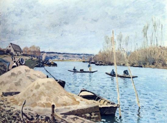 А. Сислей. Сена близ Порт-Марли.