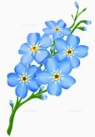 Бисероплетение цветы незабудки.