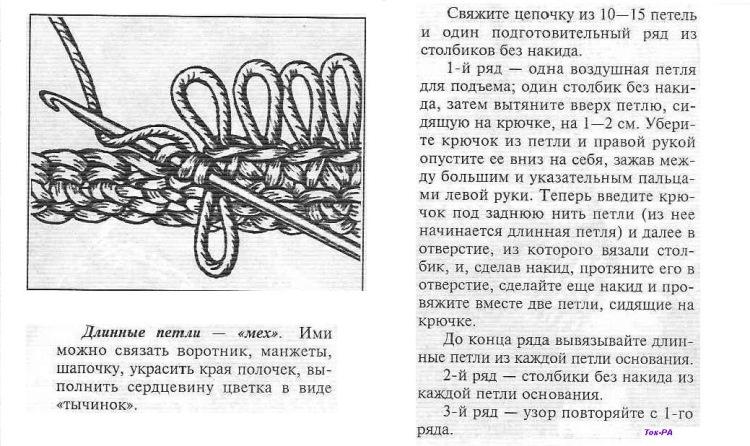 Вязание меха узор спицами 18