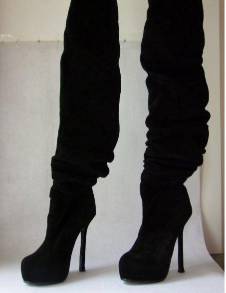Сапоги на каблуках фото