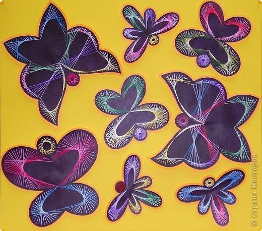 Изонить - Бабочки и стрекозы.