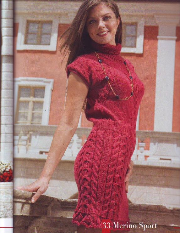 вязаное платье спицами с описанием - Примеры и схемы вязания