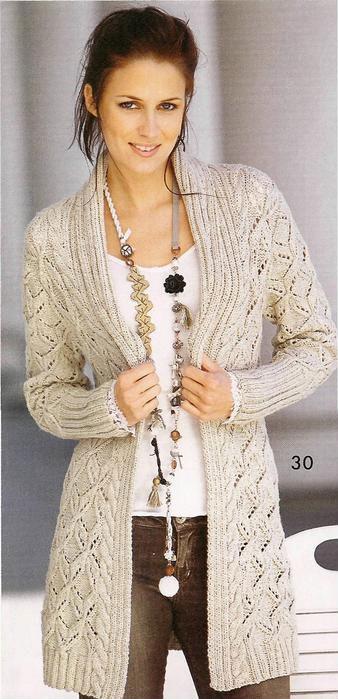 Данная деталь одежды уже Вязание для женщин - Пальто, кардиган, жакет - Жен