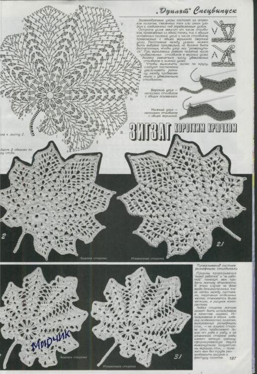 爱尔兰钩织花样图解-2;
