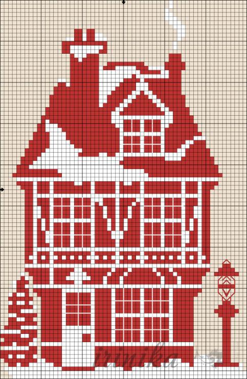 Имбирный дом схема вышивки 9