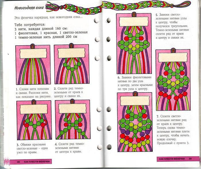 Плетение фенечек пошагово в