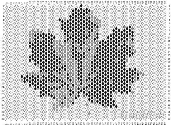 """Схема листьев клена из колье  """"Хмельное осени круженье """" ."""