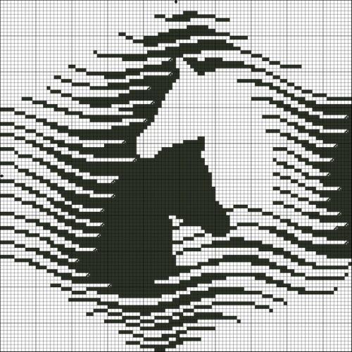 """А вообще, наберите в поисковике  """"схема лошадь монохром """" - столько всего найдется, что глаза разбегутся."""