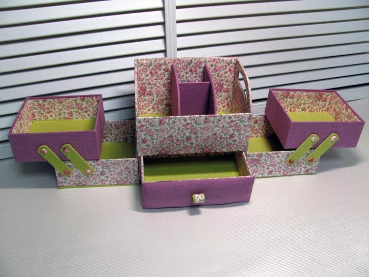 Оригинальные шкатулки из картона своими руками