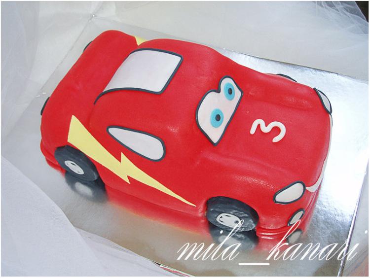 Машинка молния маквин торт мастер класс