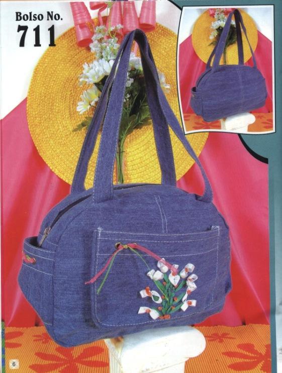 Джинсовые сумки своими руками с выкройками - Выкройка