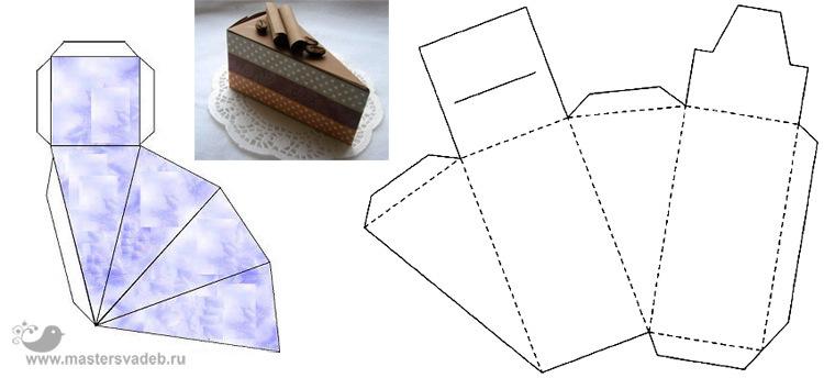 Тортик своими руками из бумаги схема