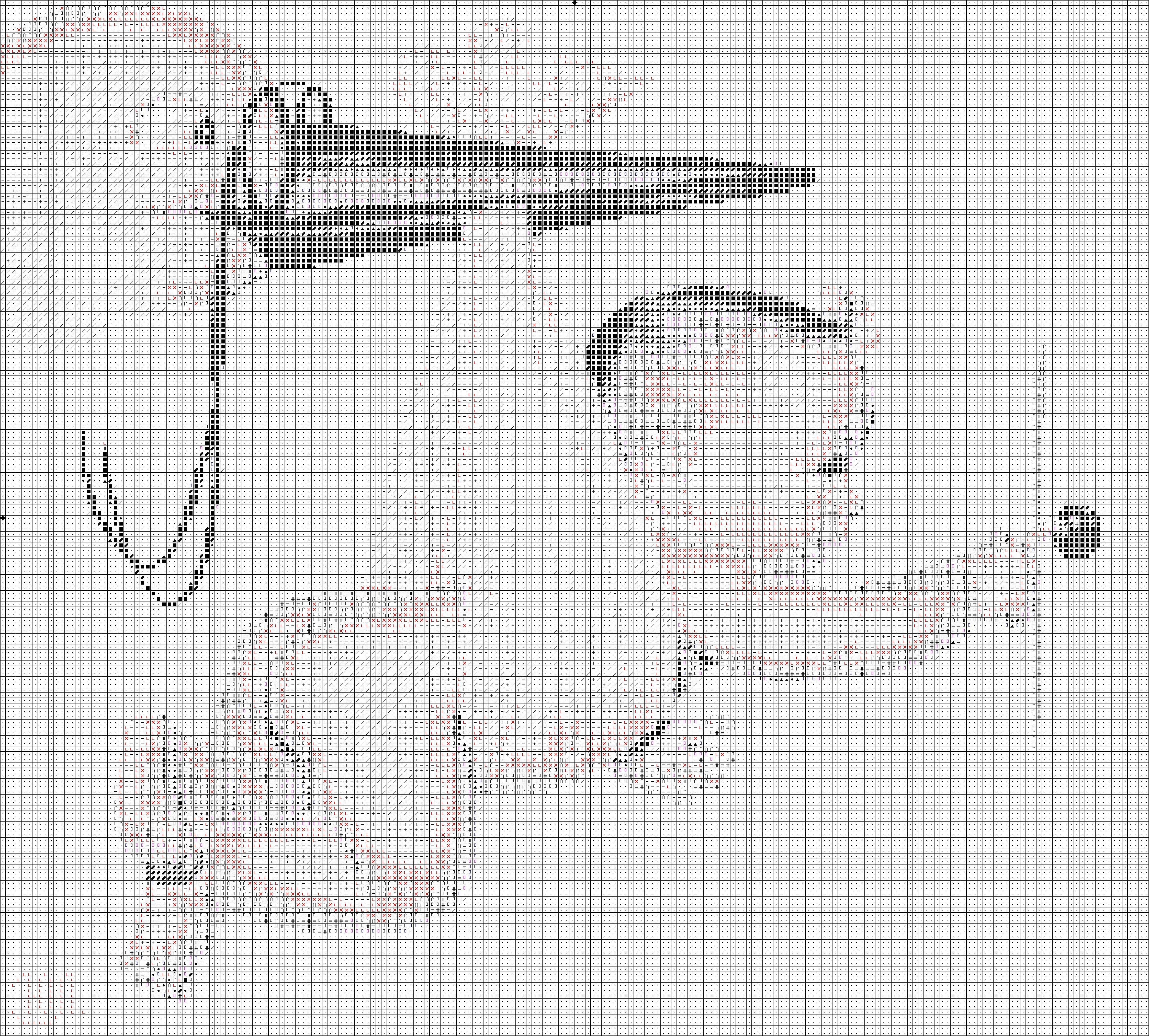 Схема вышивки крестом метрика с аистом