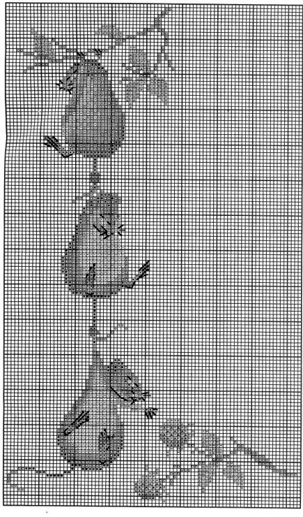Летучая мышь схемы на вышивку