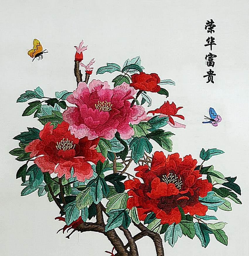 Вышивка гладью китайские мотивы