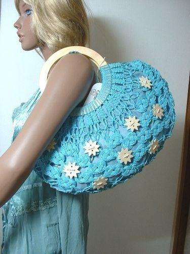 вязание крючком сумка через плечо схема.