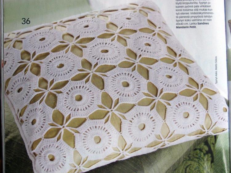 наволочки подушки крючком со схемами