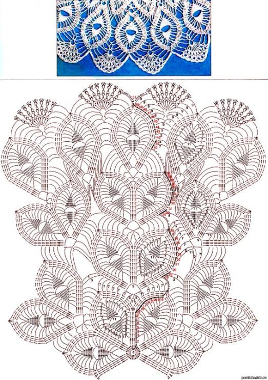 Бесплатные схемы скатертей связанные крючком - сделай сам мастер классы
